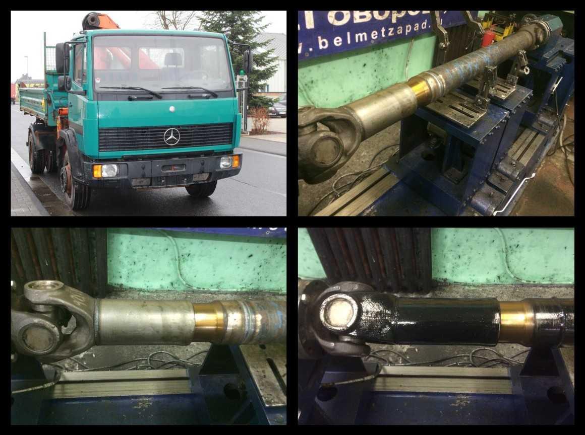 Ремонт карданного вала автобуса Setra