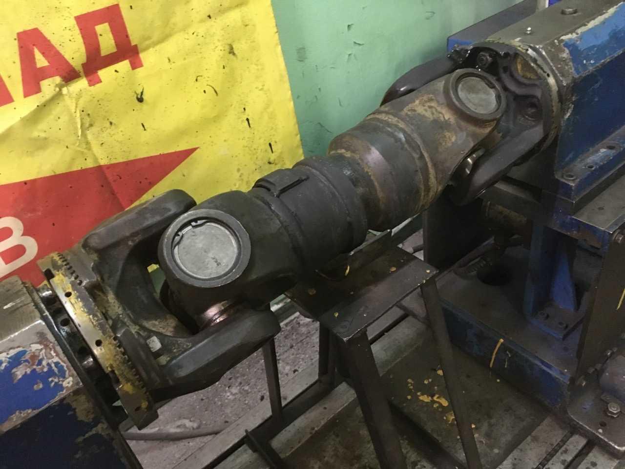 Ремонт 2-х опорного карданного вала от спецтехники Volvo