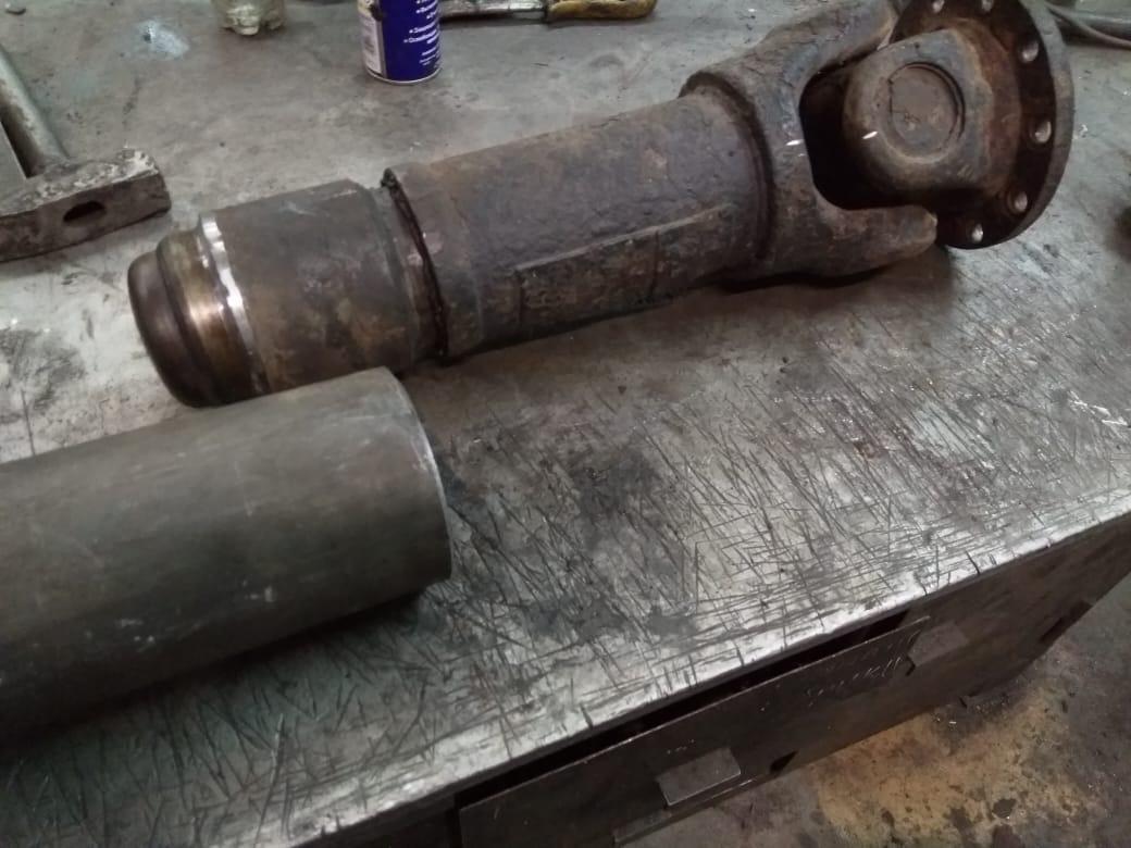Ремонт 2-х опорного карданного вала самосвала Mercedes-Benz